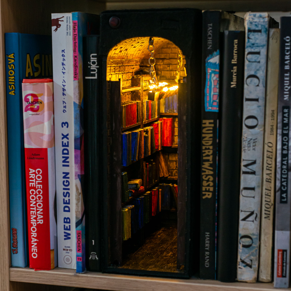 Peek inside the fantastical world of 'book nooks'