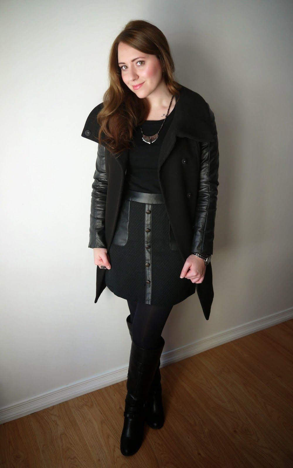 Outfit {Monotone Black + Leather Accents & Gunmetal}