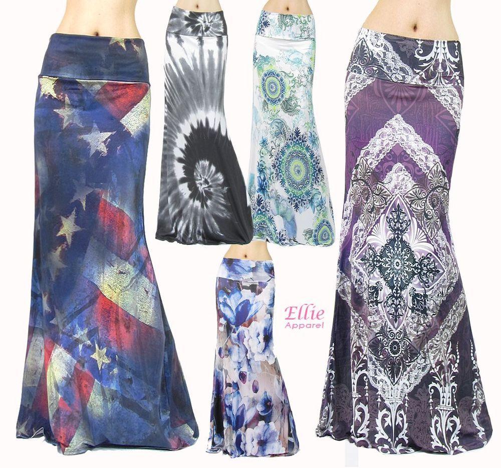 Floral Paisley Sublimation high waist maxi long skirt S//M//L//XL//1XL//2XL//3XL