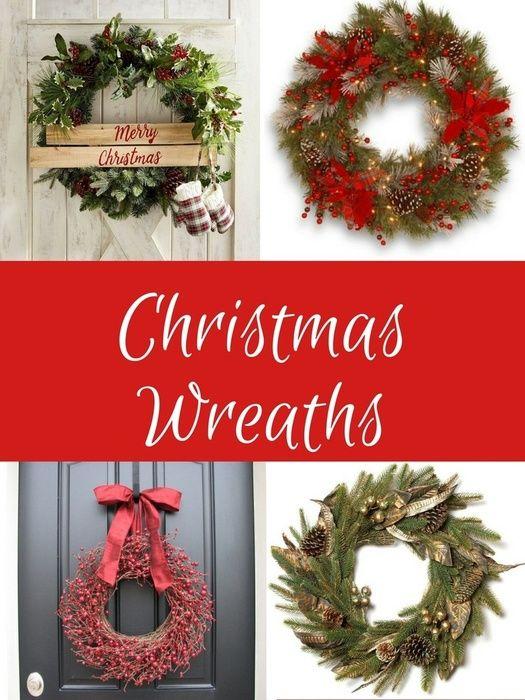 Christmas Decorations Beautiful Christmas Wreaths. #Christmas#Holidays#Christmasdecor#ad