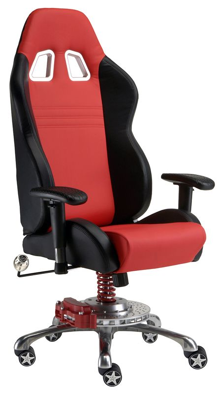 Red Car Office Chair - Car Guy Garage