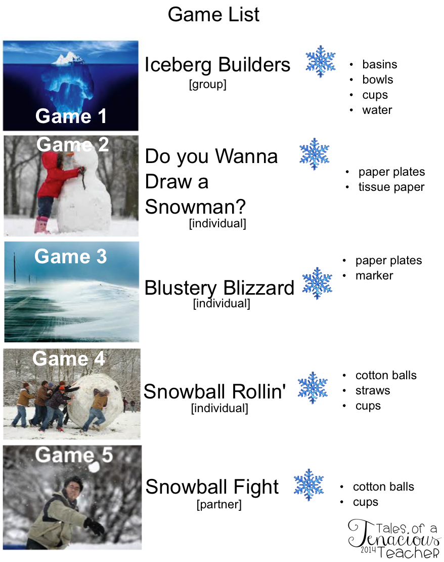 Snow Day At School 5 Team Building Games Games Classroom