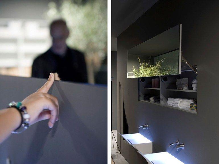 Contenitori Bagno ~ Specchio bagno basculante design con contenitore luminoso segreto