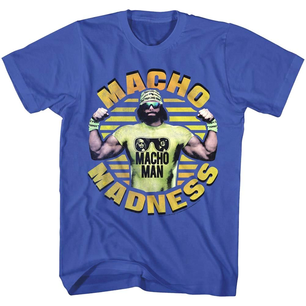 Macho Man Randy Savage Macho Madness Adult T Shirt WWE Wrestling