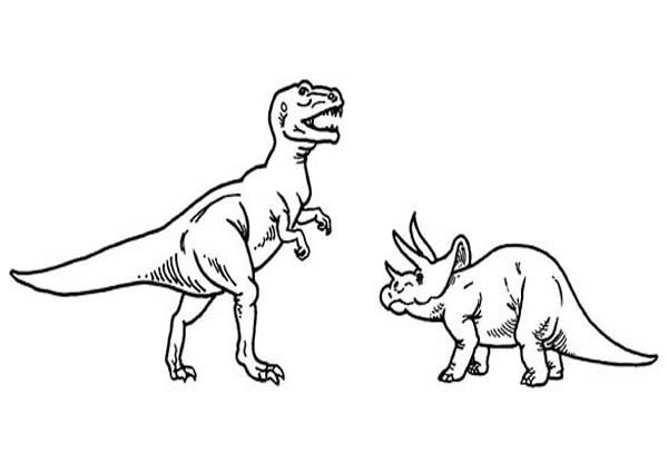 T Rex Versus Triceratops Coloring Page Color Luna In 2020 Coloring Pages Coloring Pictures Online Coloring
