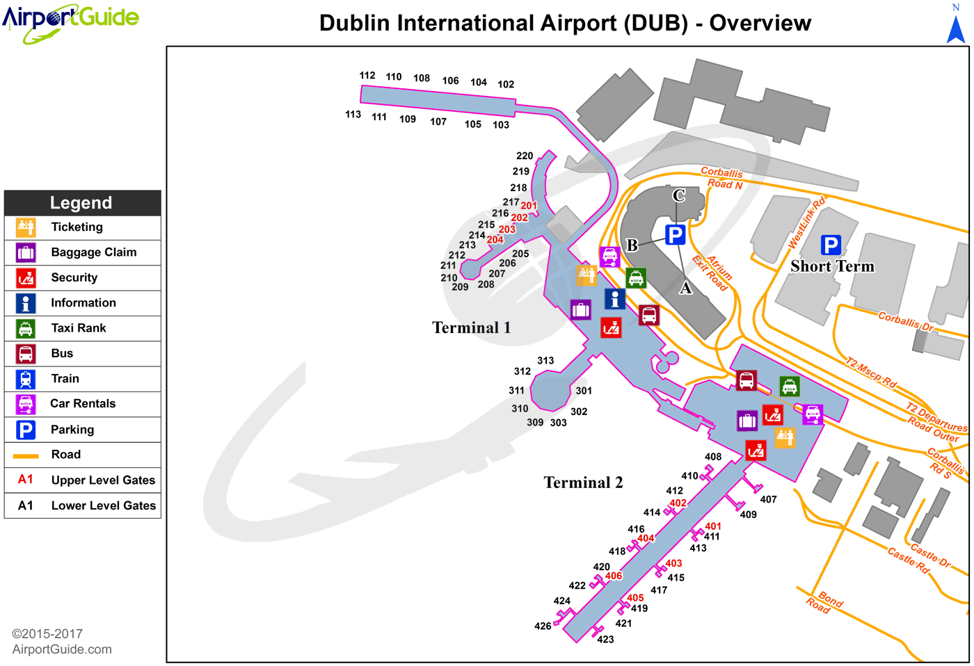 Dublin Airport Map Dublin   Dublin (DUB) Airport Terminal Map   Overview | Airport