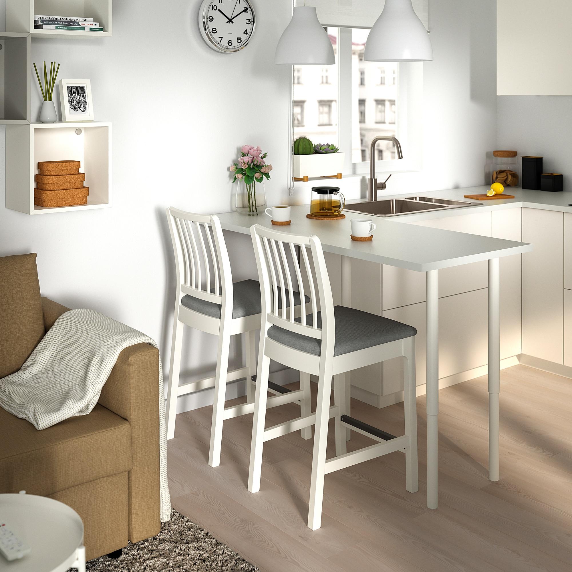EKEDALEN Barhocker, weiß, Orrsta hellgrau. Hier kaufen   IKEA ...