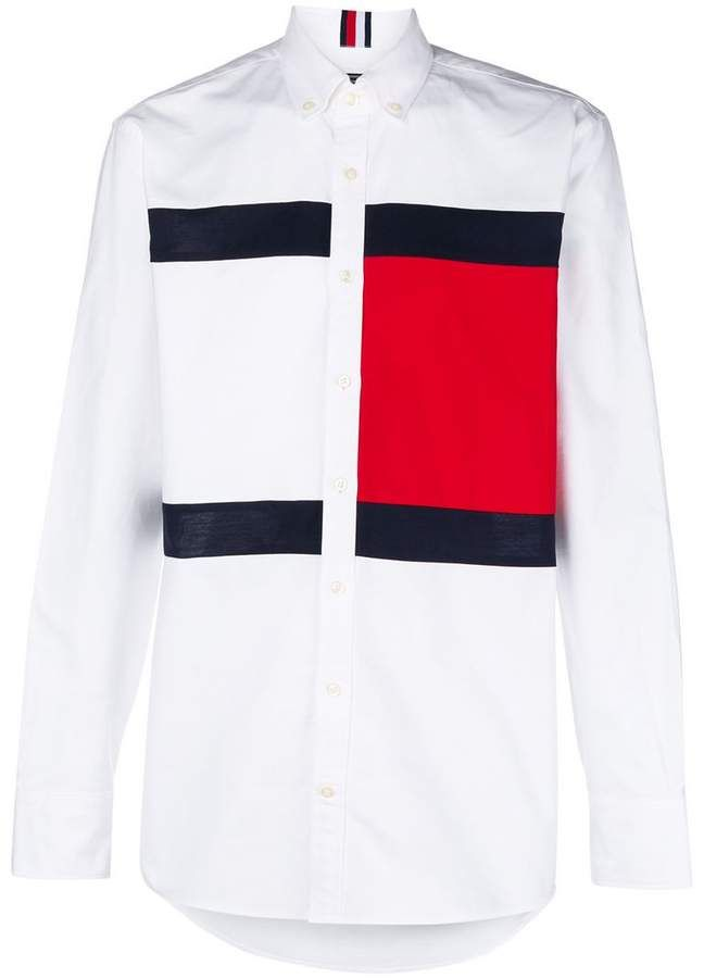 28cf86b4 Tommy Hilfiger logo print shirt | Color in 2019 | Printed shirts ...