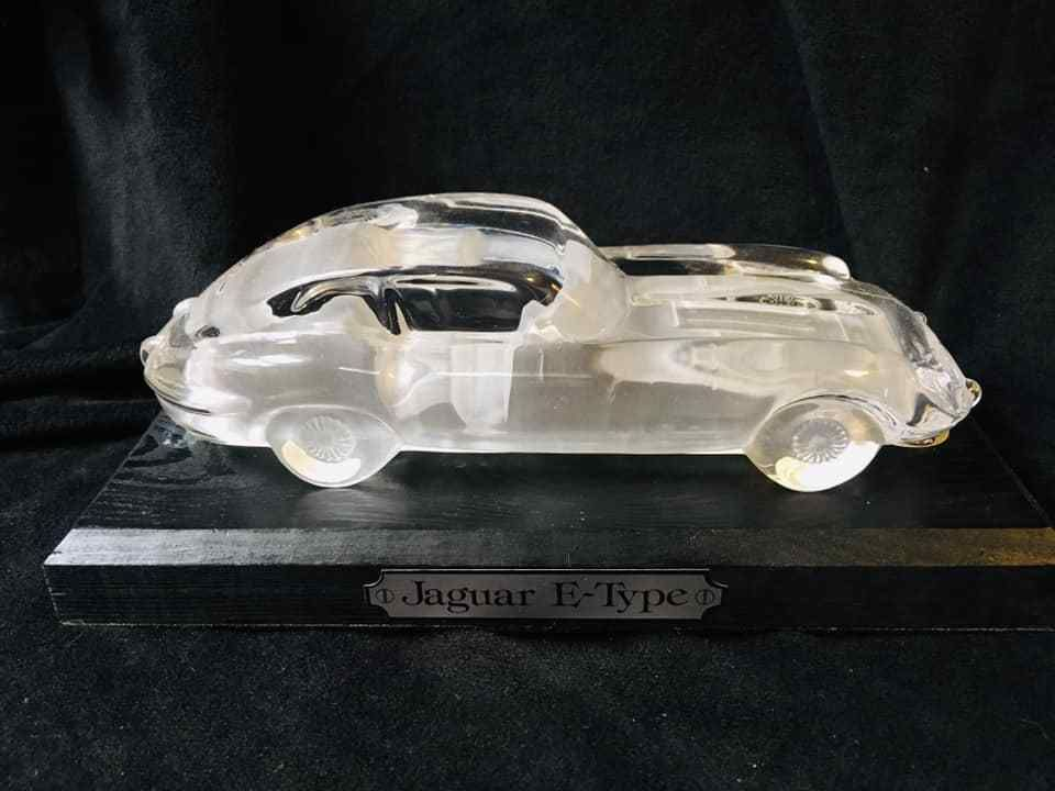 Hofbauer Germany Crystal Jaguar E Type Car Dated 1987 Excellent