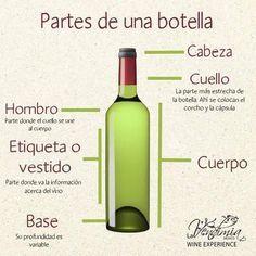 Partes De La Botella De Vino Corcho Botellas Barricas Y Copas Pinterest