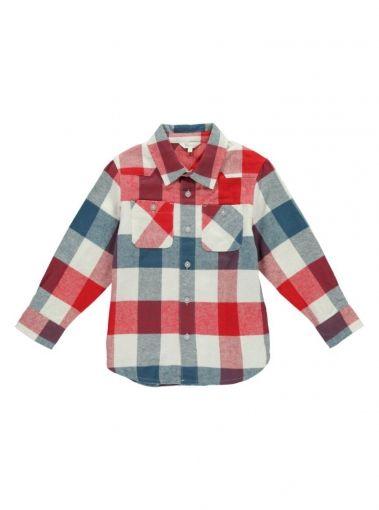 Mix Apparel - Collection - Patch Pocket Plaid Shirt