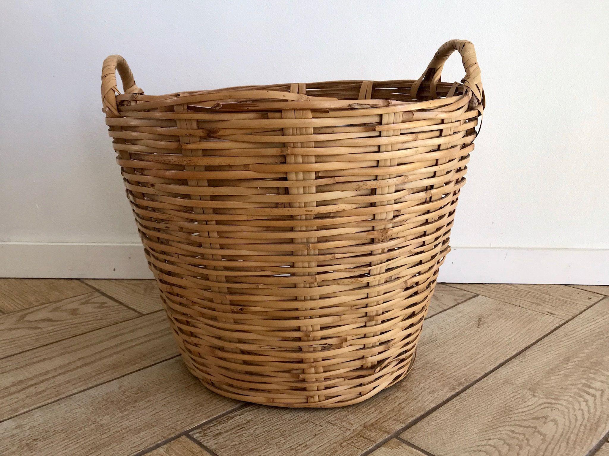 Medium Linen Basket Rattan Basket Wicker Laundry Basket