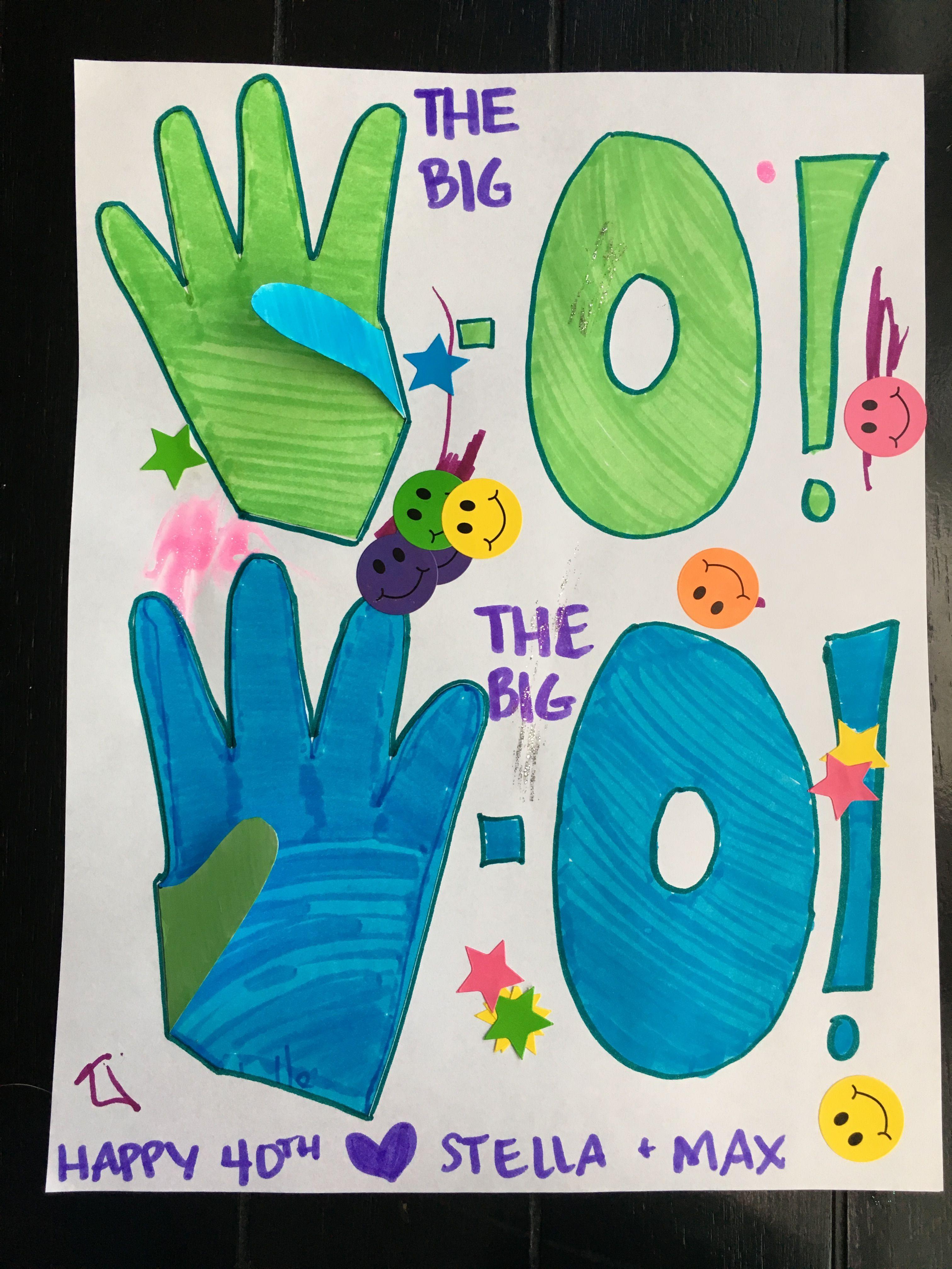 40th birthday card from the kiddos diy kids crafts
