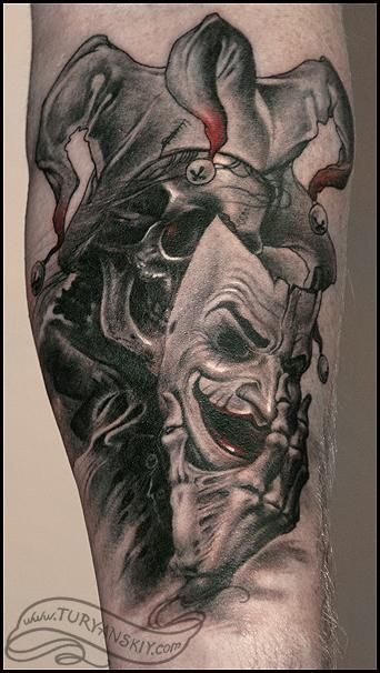 Evil Jester Tattoo : jester, tattoo, Jester, Tattoos, Tattoo,, Clown