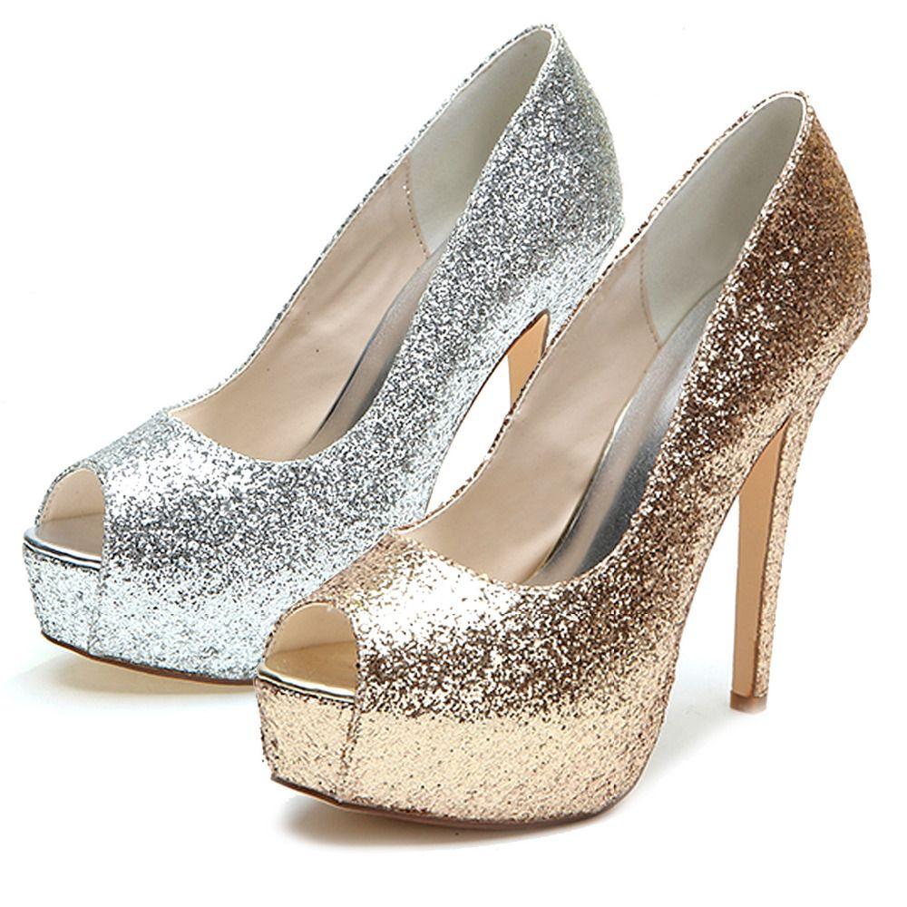 e7f8e88558 Fashion trend of Popular Metallic Silver Heels-Buy Cheap Metallic ...