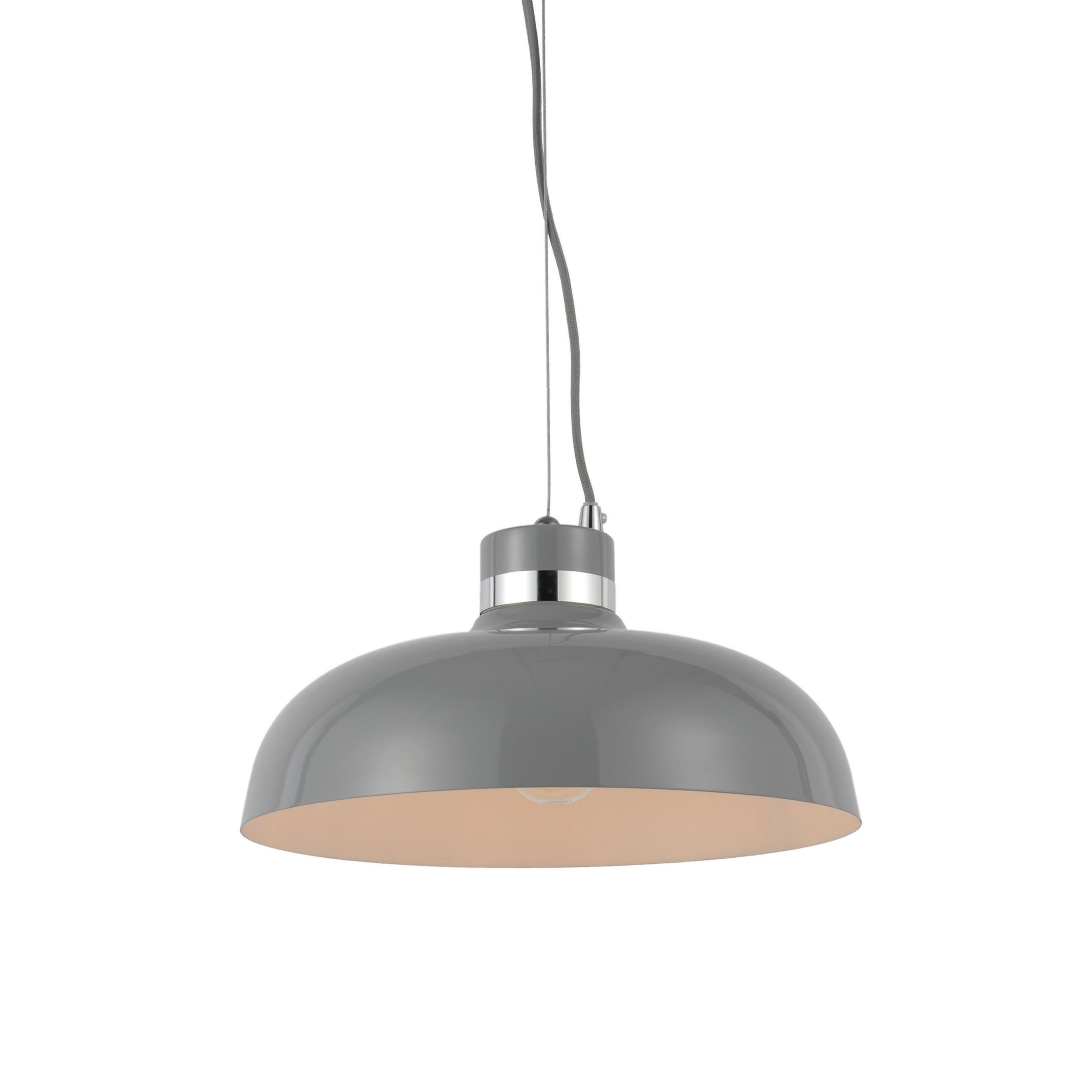 B And Q Kitchen Lights Holman grey pendant ceiling light ceiling lights ceilings and lights b and q light workwithnaturefo