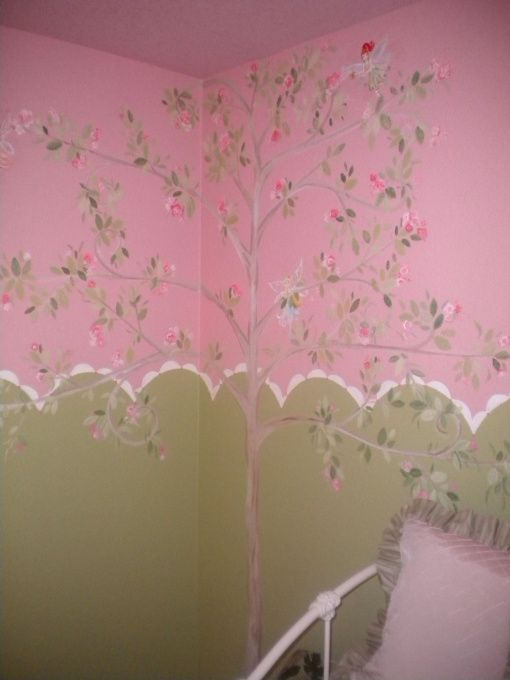 Painted Tree Full Of Fairies Wall Murals Painted Wall Murals