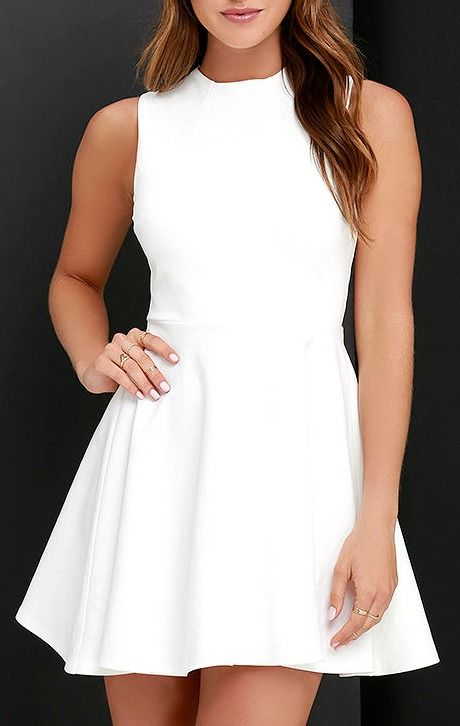 c47967ea9dc Fun-Loving Ivory Skater Dress | Best of New | Dresses, Skater dress ...