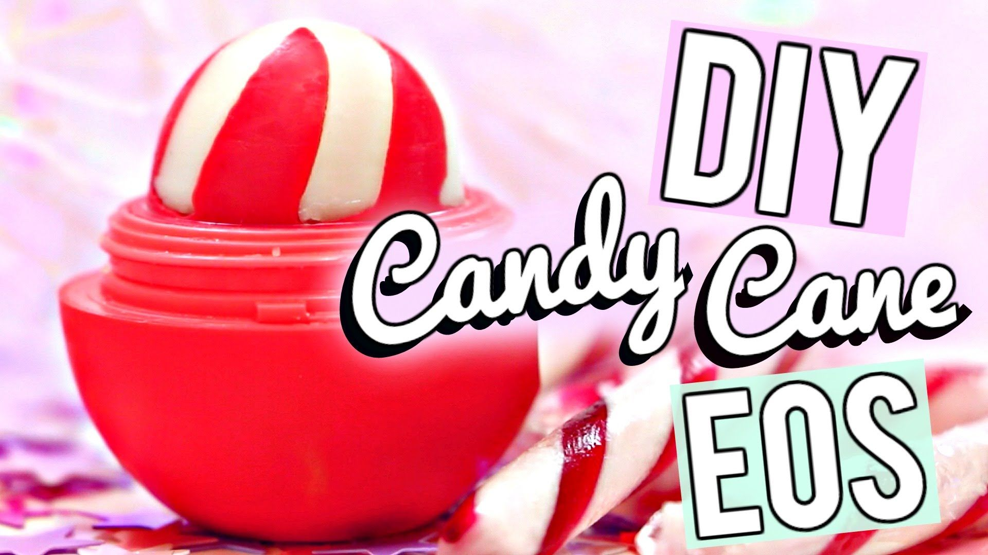 Balm christmas gift turn old eos containers into cool crafts ideas - Diy Candy Cane Eos Lip Balm Easy And Quick Gift Idea