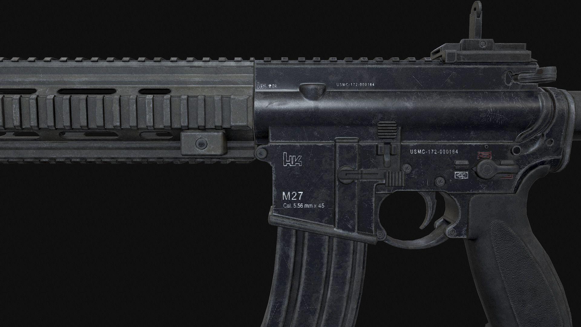 ArtStation - HK-416 Model, Bin Zhu