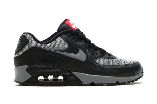 9c5a63ffa7c Nike Air Max 90 Essential Black Cool Grey-Anthracite-University Red ...