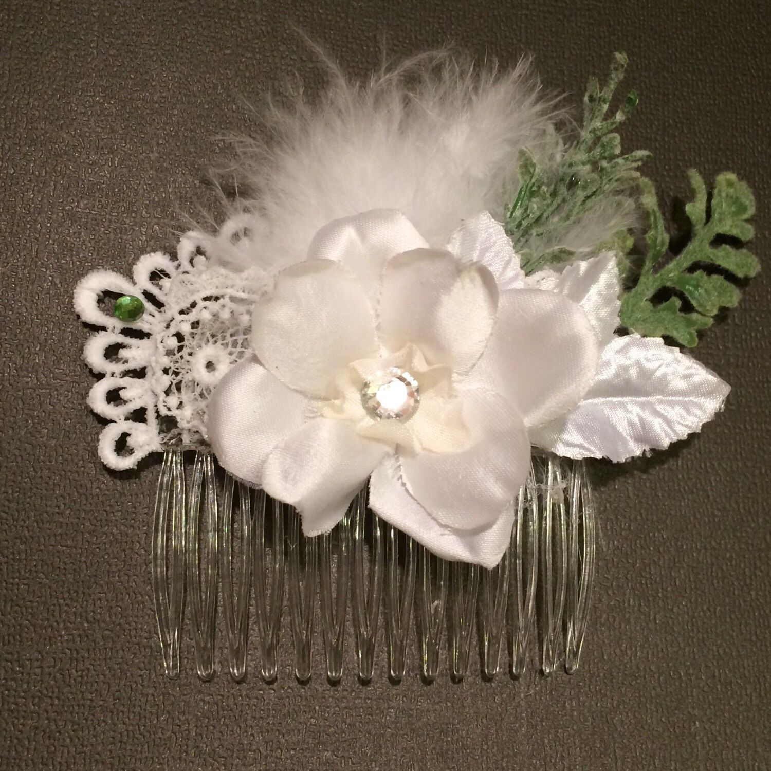 A personal favorite from my Etsy shop https://www.etsy.com/listing/276731038/floral-hair-comb-bridal-accessory