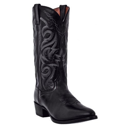 If you're looking for comfort and style these are the boots for you, turn to Dan Post. These are handcrafted Dan Post cowboy boots. Which has a genuine Mignon leather foot and also a matching 13 inch fancy stitched shaft. It has a real nice leather lin...