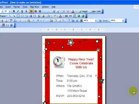 video how to- making invitations using powerpoint Design - how to make invitations with microsoft word