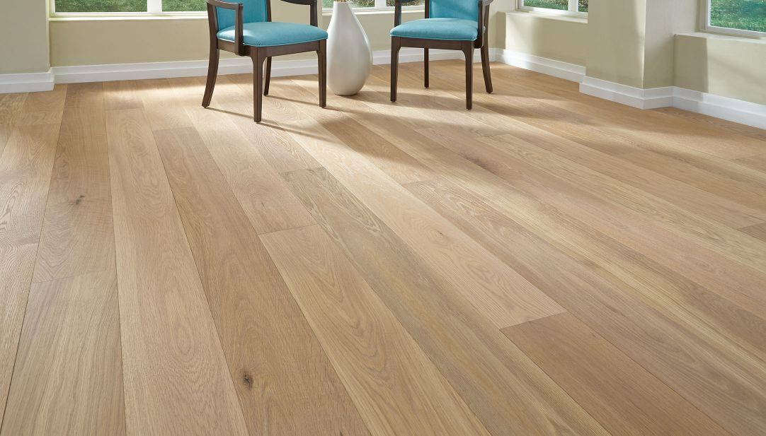 Baked Bread Living Room Oak Hardwood Flooring Wide Plank