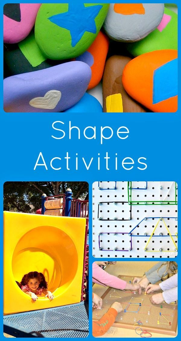 Shape Activities Kids Learning Activities Fun Learning Creative