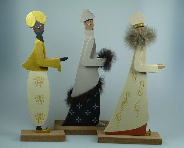 krippenfiguren aus holz die hl 3 k nige weihnachtskrippe nativity. Black Bedroom Furniture Sets. Home Design Ideas