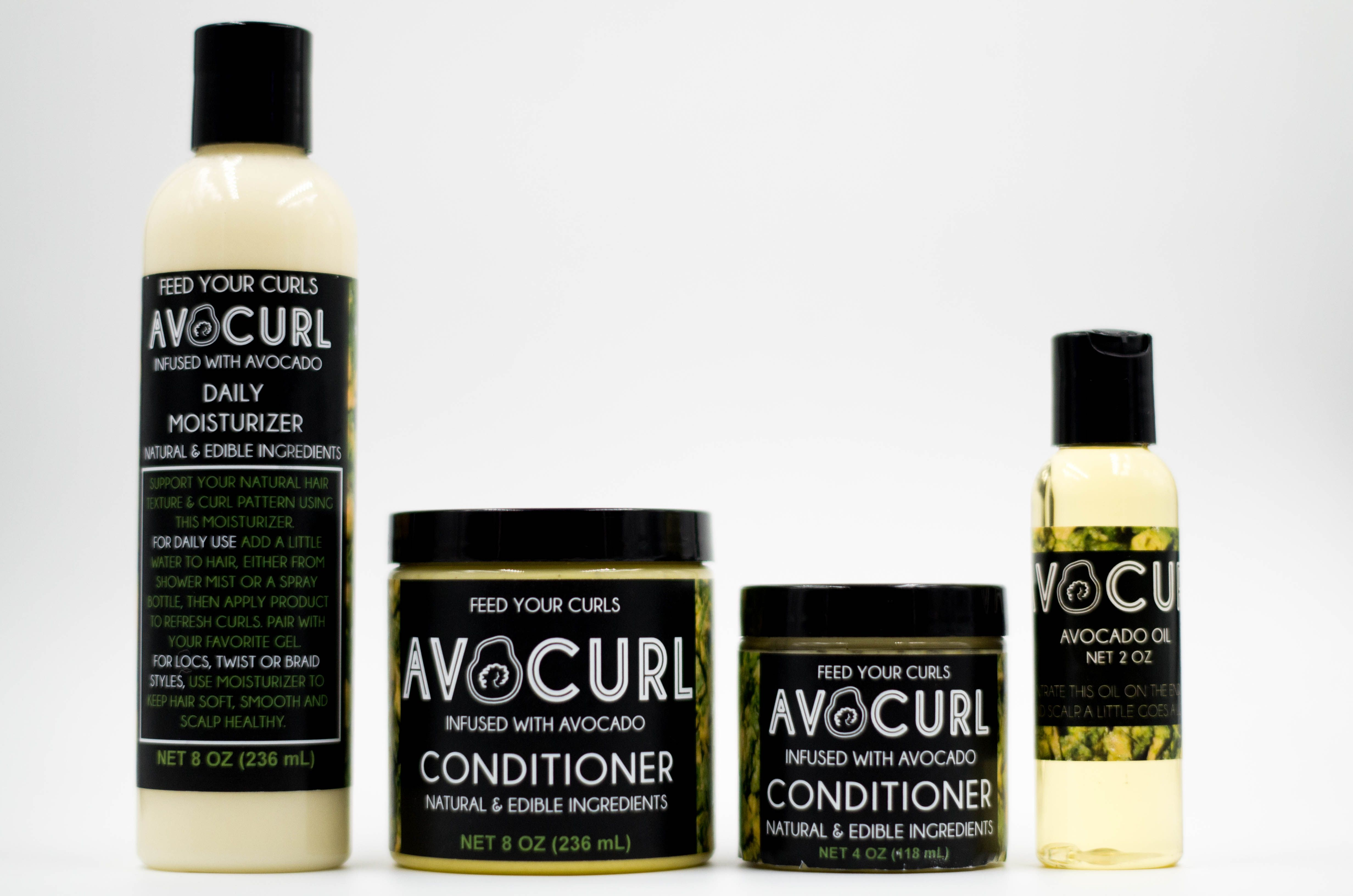 AVOCURL Natural Hair Care Infused with Avocado. Visit our