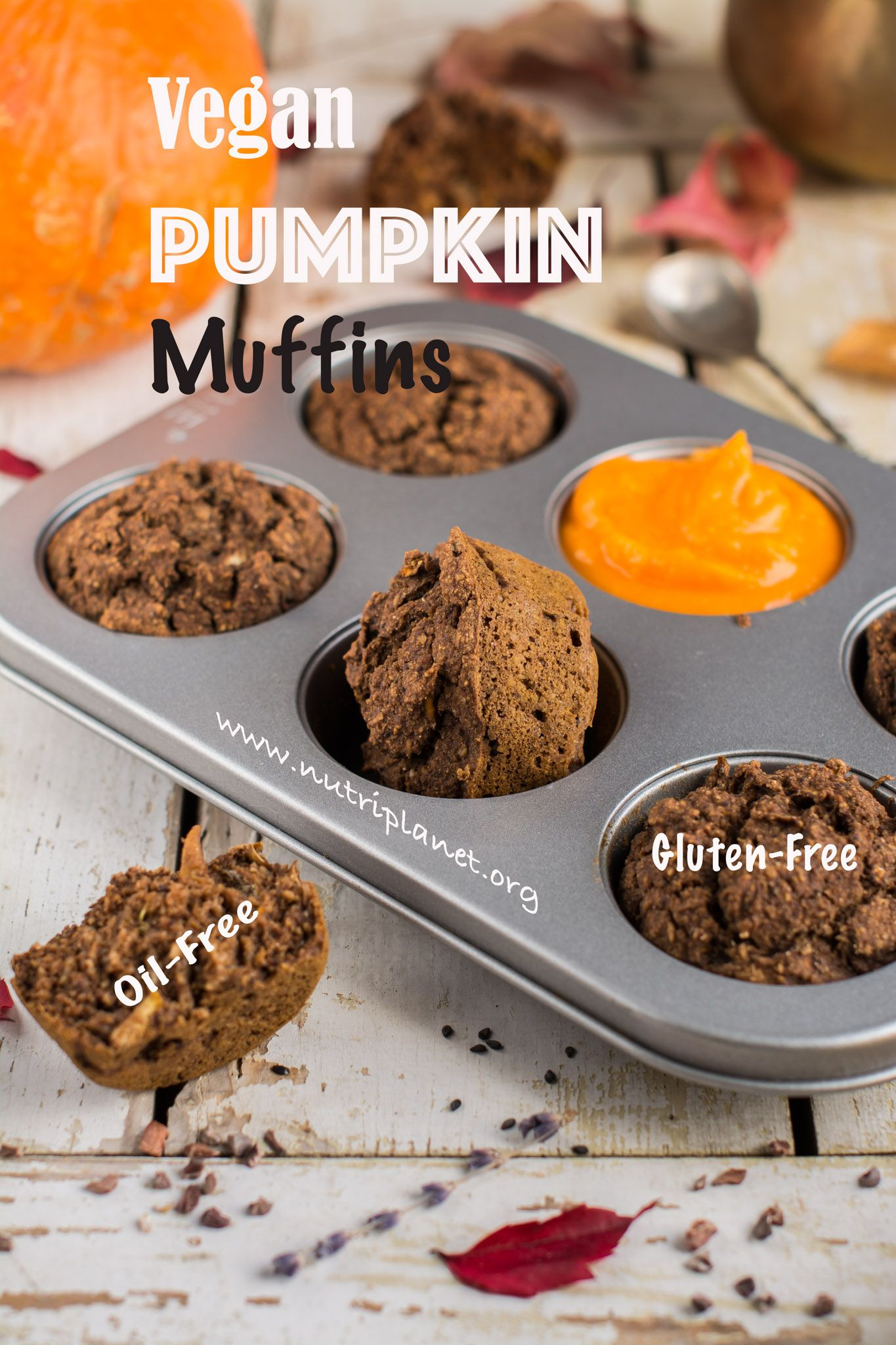 Pumpkin Muffins Recipe with Zucchini [Vegan & Gluten-Free] | Vegan