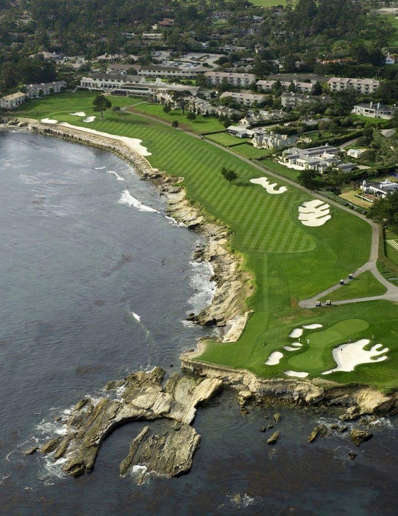 Hole 18 Pebble Beach Golf Links Ca 543 Yards Par 5 Golfcourses