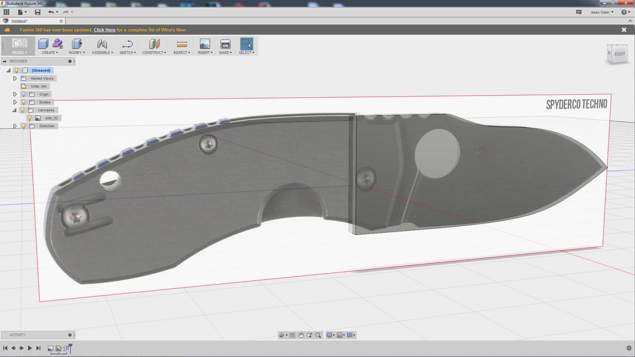 Tutorial on how to model a knife in Fusion 360 | FUSION 360 AUTODESK