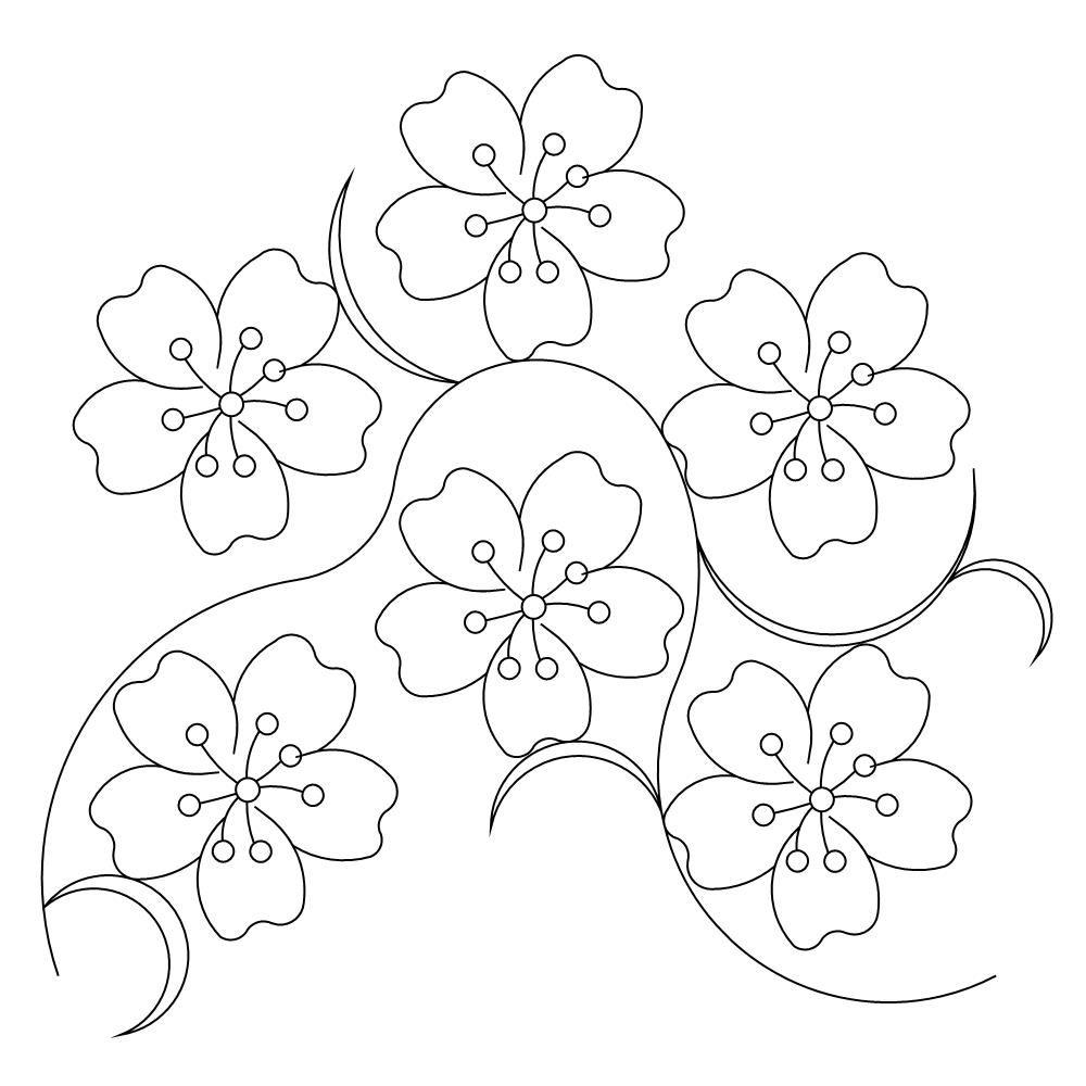 It is a photo of Geeky Sakura Flower Drawing