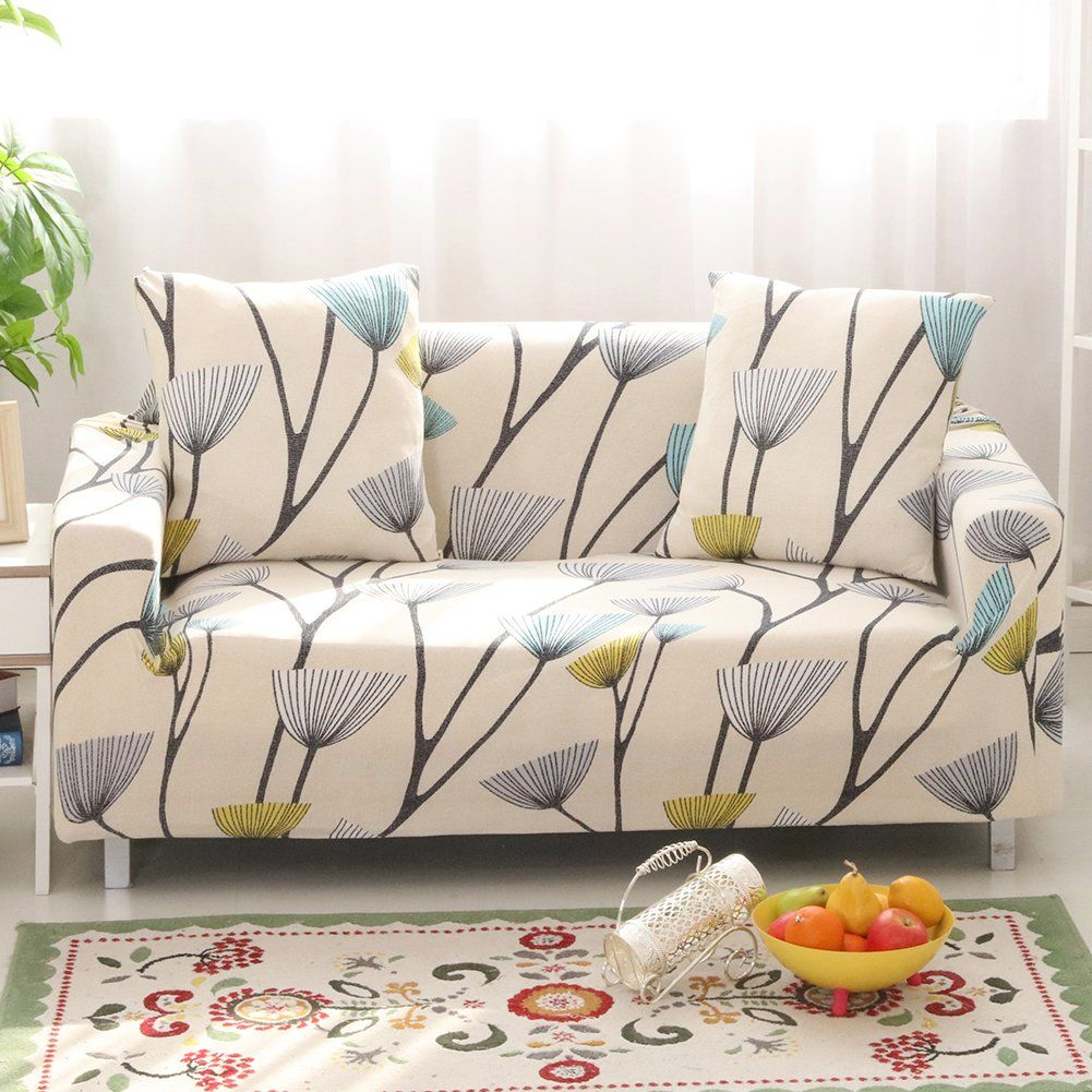 Lamberia Spandex Fabric Stretch Sofa Slipcover Couch Covers For 3