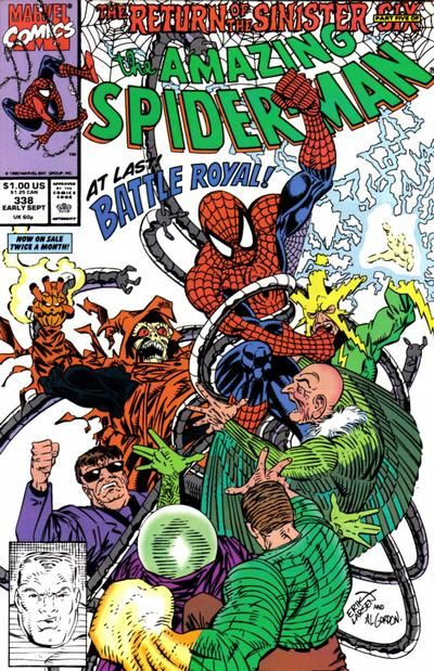 Cover for The Amazing Spider-Man (Marvel, 1963 series) #338 [Direct Edition]