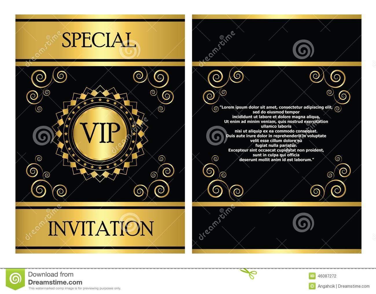 Vip Invitation Card Template Stock Vector Illustration Of Pertaining To Event Invita Invitation Card Sample Business Events Invitation Invitation Card Design
