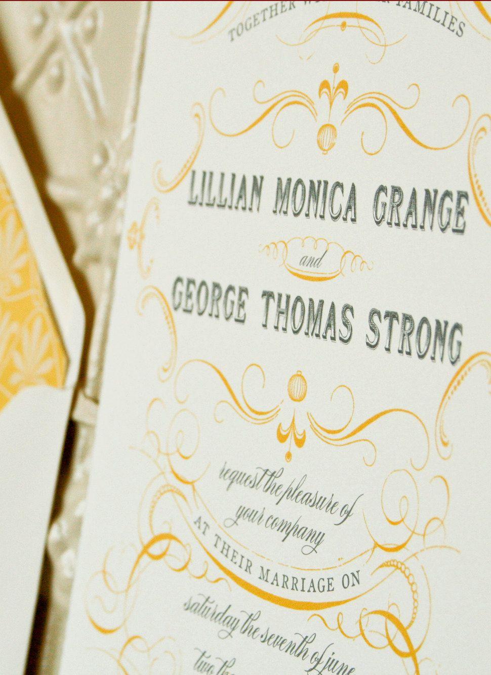 Elegant Wedding Invitations, Custom Vintage Wedding Invitation ...