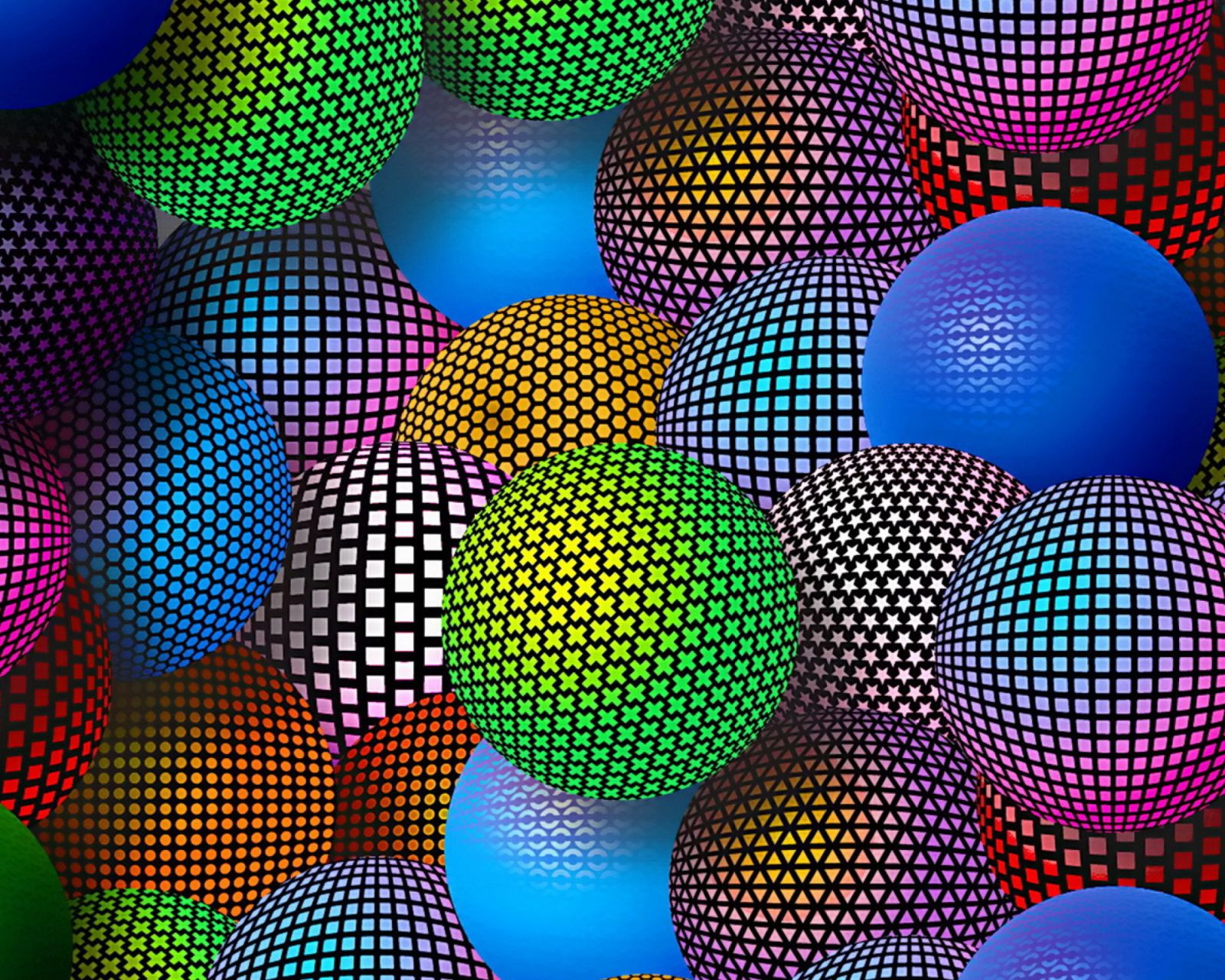 3D Neon Balls Wallpaper For Samsung Galaxy Tab 4 8.0