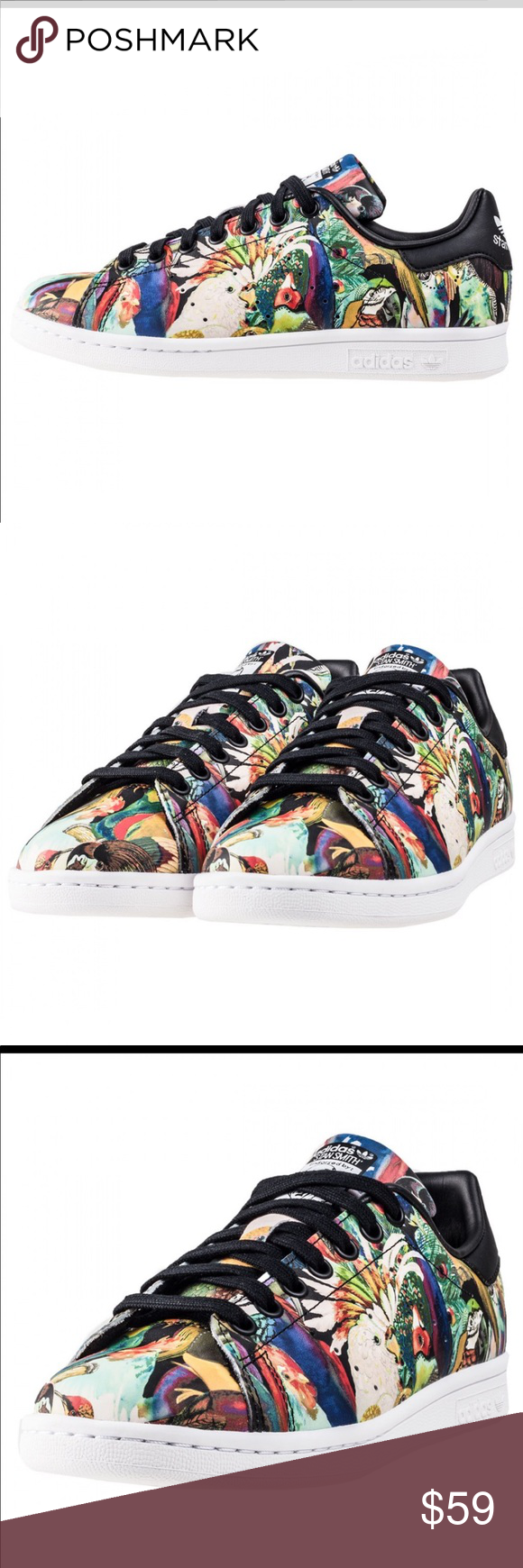 los angeles a4c6c 03512 Adidas Stan Smith parrot design Brand new never worn Adidas ...