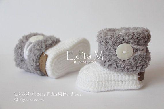 amazing selection buy thoughts on Crochet baby booties, unisex baby booties, baby shoes ...
