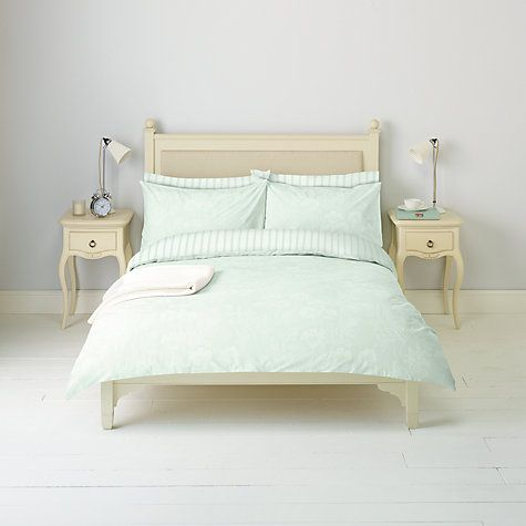 John Lewis Cow Parsley Duvet Cover And Pillowcase Set Pale Duck Egg Online At