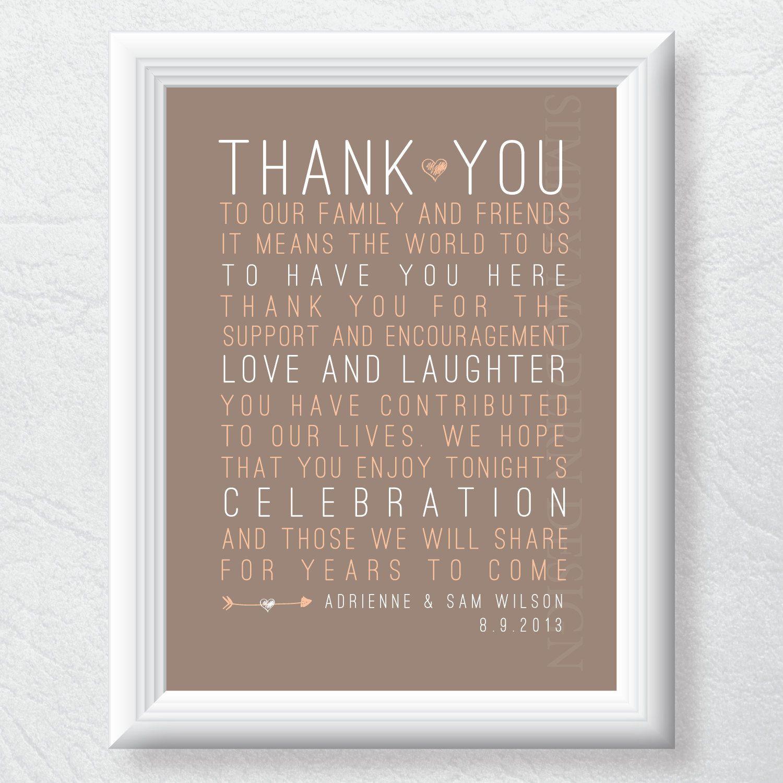 rustic thank you wedding sign, PRINTABLE. $13.00, via Etsy. #rustic #wedding #thankyou #sign