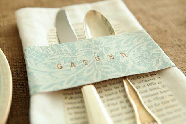 Homemade Paper Napkin Wrap A Shabby Chic Napkin Ring Idea Diy