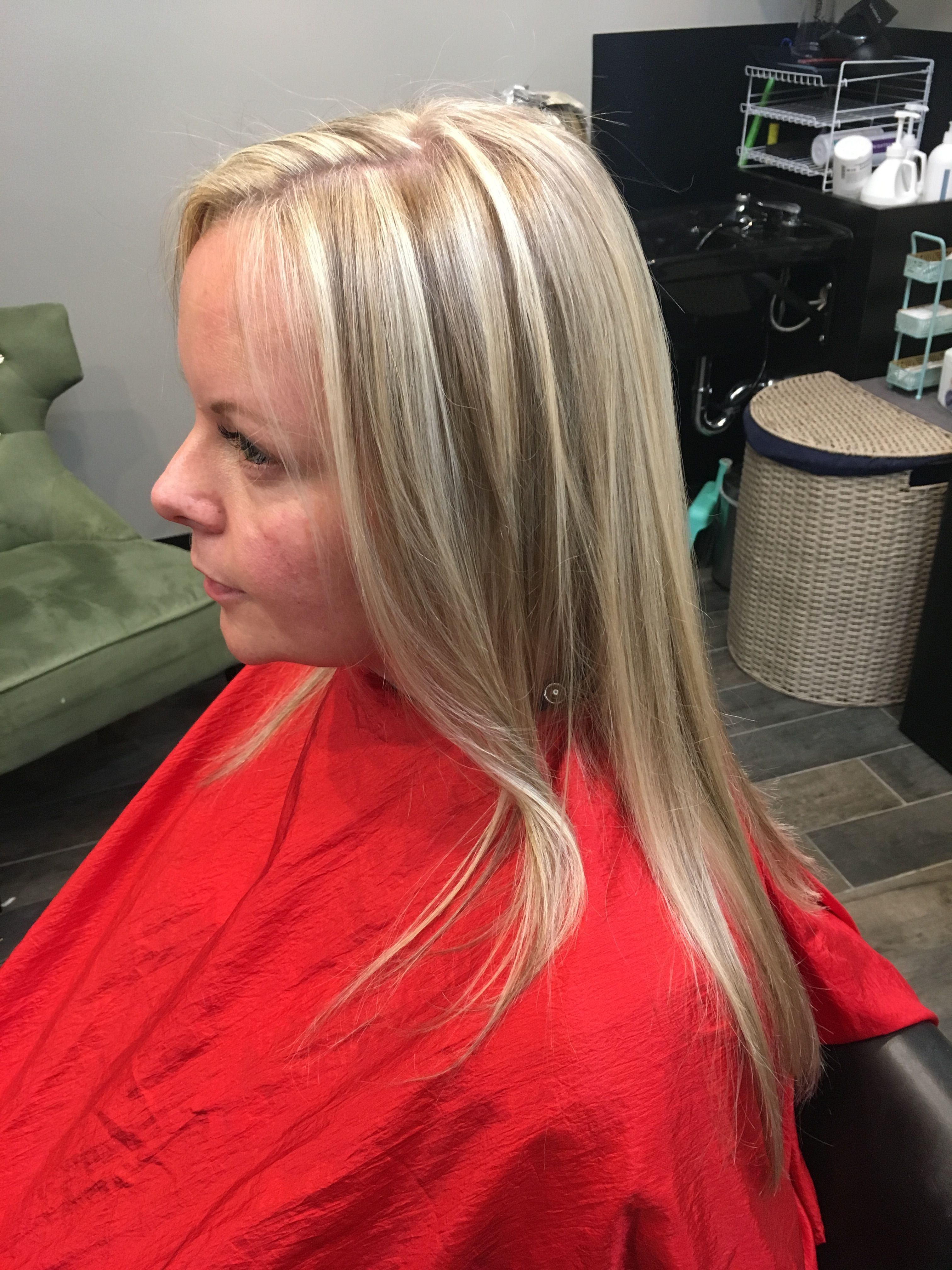 Emphasized highlights and lowlights for fine thin hair ...