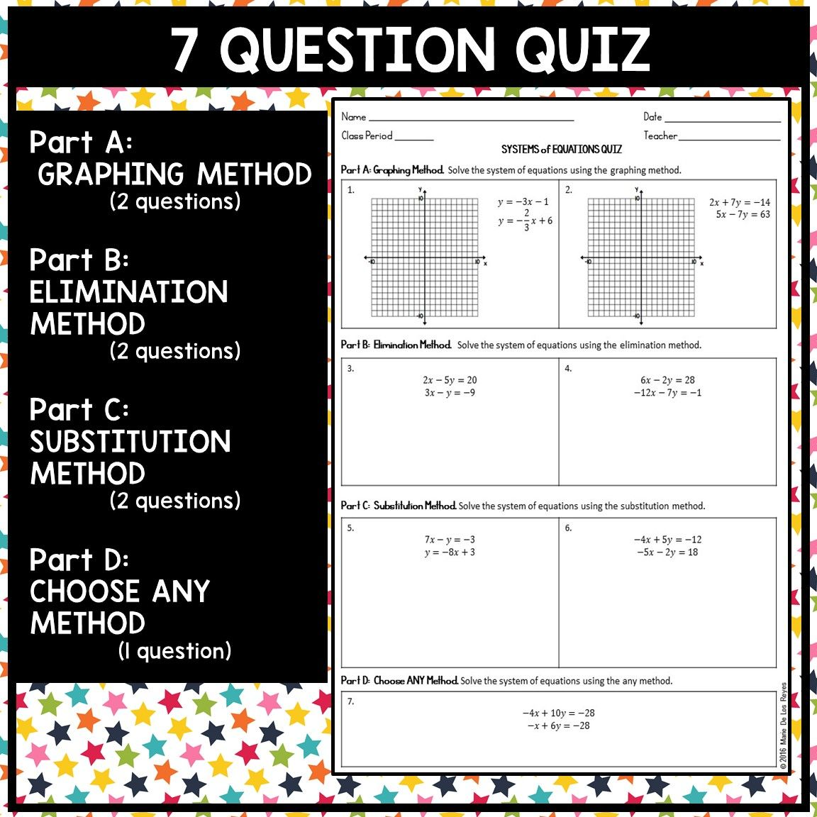 Systems Of Equations Quiz