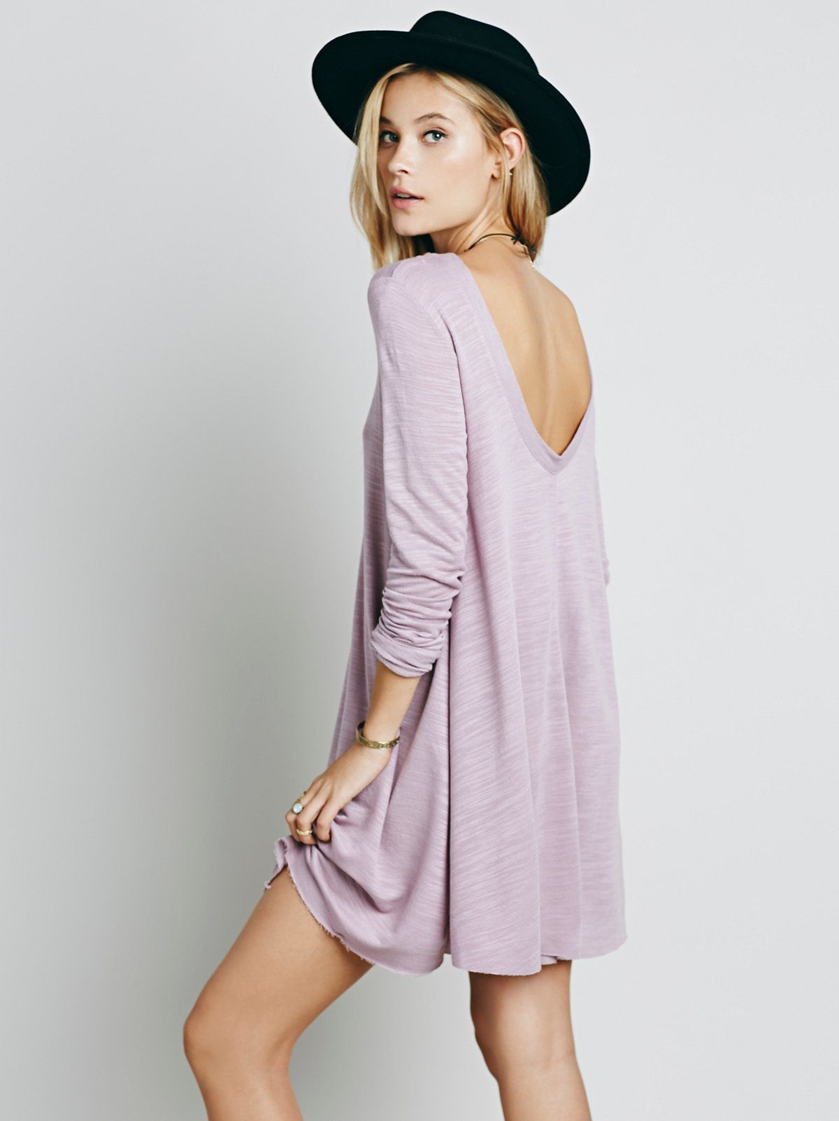 Long sleeve swing dress free people pinterest free people