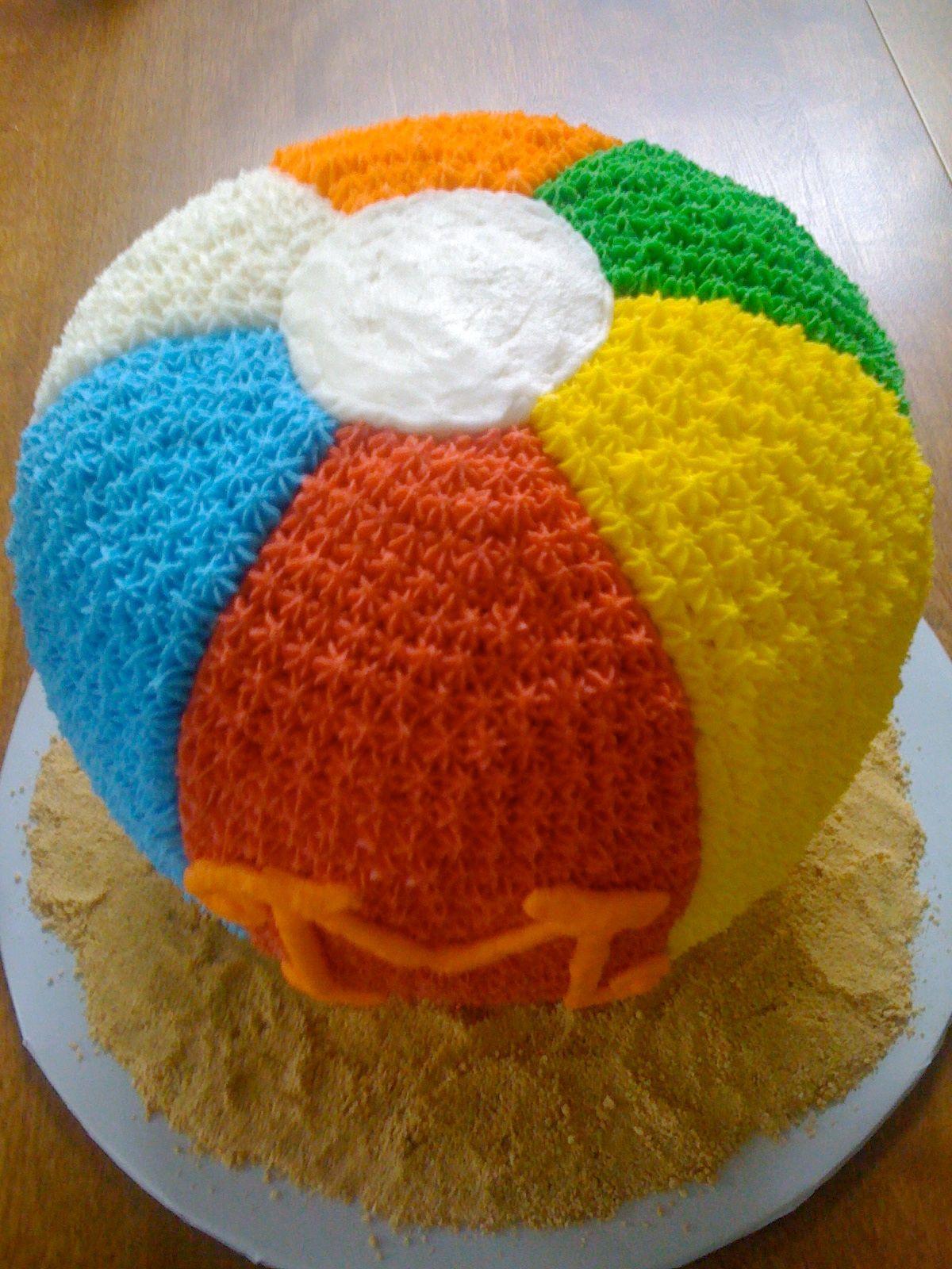 Beach ball cake | Beach ball cake, Pool birthday party ...